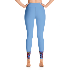 Soft Blue Afro Print Leggings
