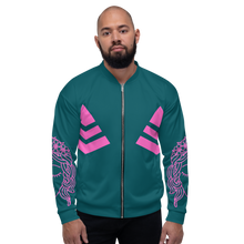 Load image into Gallery viewer, Unisex Bomber Jacket Budha Teal