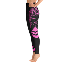 Load image into Gallery viewer, Yoga Leggings Budah Bless Black and Pink