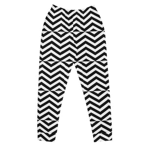 Black and White Zig Zag Women's Joggers