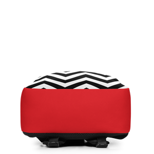 Red Zag Zig Color Flow Yield Backpack