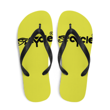 Load image into Gallery viewer, EyeCycle Lime Time Flip-Flops