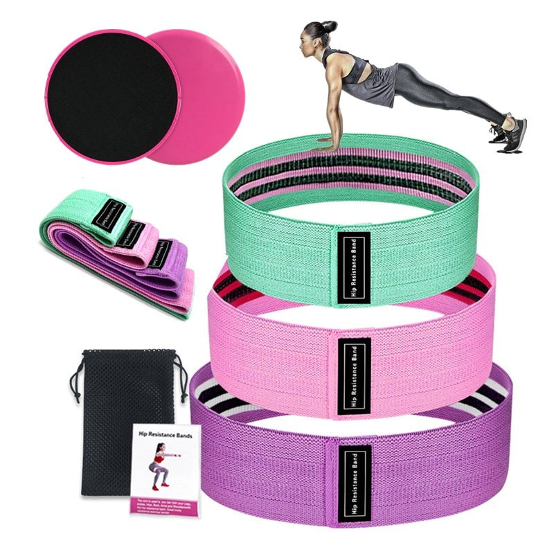 Resistance Bands Set Sport Elastic Loop Booty Band Expander Anti Slip Hip Fitness
