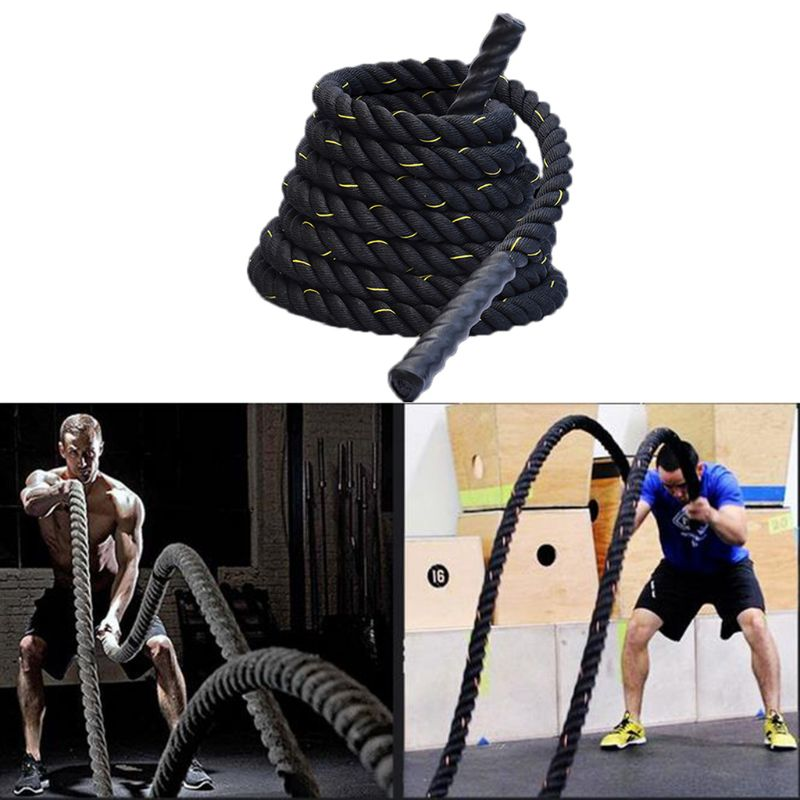 Heavy Jump Rope Skipping Rope Workout Battle Ropes  Power Training Strength