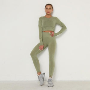 Sexy sports suits Seamless yoga set fitness clothes sports clothes high waist woman gym leggings sports Adjustable bra sets
