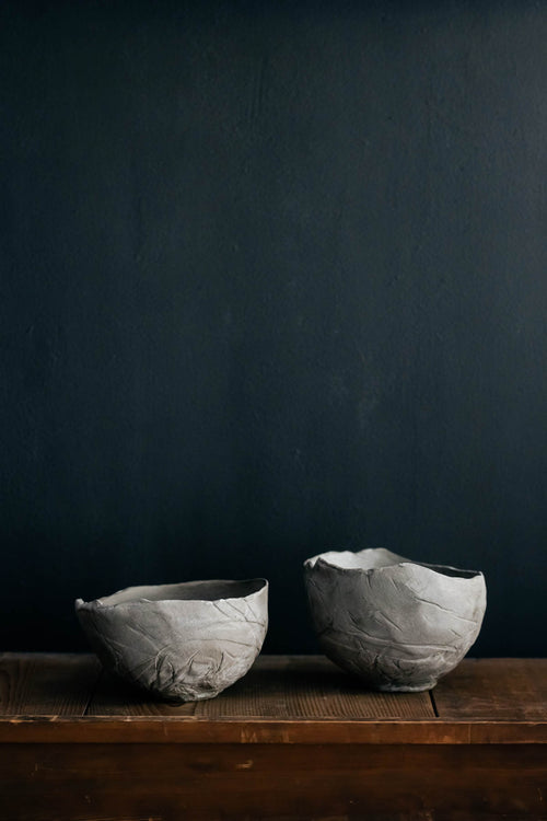 Linen cloth pressed Bowl - large