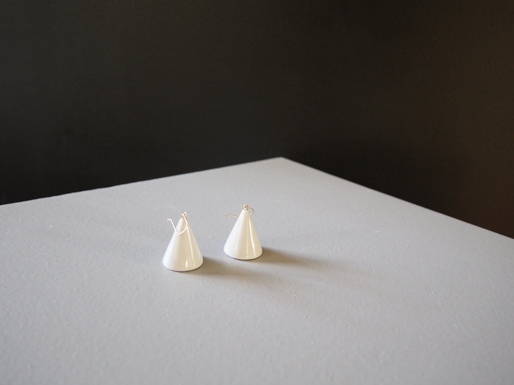 Porcelain Cone Earrings