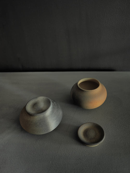 Ceramic Jars - M  Grey or Brown