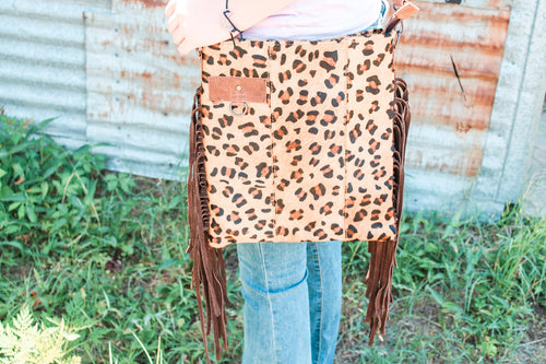 Cheetah Bucket Purse