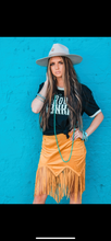Load image into Gallery viewer, Mustard Fringe Skirt