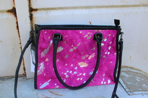 Hot Pink Acid Wash Cowhide
