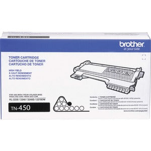 Brother TN450 Toner Cartridge - Laser - High Yield - 2600 Pages - Black - 1 Each