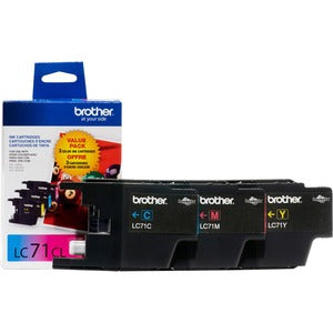 Brother Innobella LC713PKS Original Ink Cartridge - Inkjet - 300 Pages Cyan, 300 Pages Yellow, 300 Pages Magenta - Cyan, Yellow, Magenta - 3 / Pack