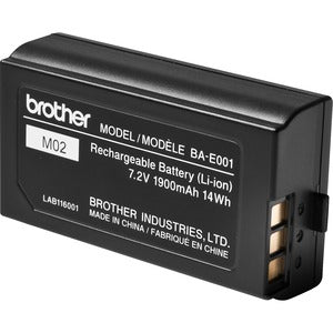 Brother Rechargeable Li-ion Battery Pack - For Handheld Device - Battery Rechargeable - 7.2 V DC - 1900 mAh - 14 Wh - Lithium Ion (Li-Ion) - 1 Each