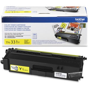 Brother TN331Y Original Toner Cartridge - Laser - 1500 Pages - Yellow - 1 Each