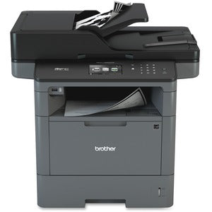 Brother MFC MFC-L5900DW Laser Multifunction Printer - Monochrome - Copier/Fax/Printer/Scanner - 42 ppm Mono Print - 1200 x 1200 dpi Print - Automatic Duplex Print - 1200 dpi Optical Scan - 300 sheets Input - Ethernet - Wireless LAN