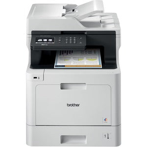 Brother MFC MFC-L8610CDW Laser Multifunction Printer - Color - Copier/Fax/Printer/Scanner - 33 ppm Mono/33 ppm Color Print (2400 x 600 dpi class) - Automatic Duplex Print - 1200 dpi Optical Scan - 300 sheets Input - Gigabit Ethernet - Wireless LAN