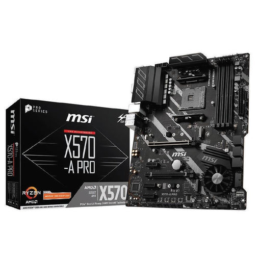 MSI X570-A PRO ATX Motherboard ,Socket AM4,Supports 2nd and 3rd Gen AMD Ryzen/ Ryzen with Radeon Vega Graphics and 2nd Gen AMD Ryzen with Radeon Graphics Desktop Processors for Socket AM10,  DDR4 Max. 128GB
