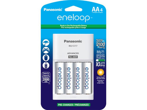 Panasonic ENELOOP CHARGER + 4 AA 2000MAH RECHARGEABLE BATTERIES