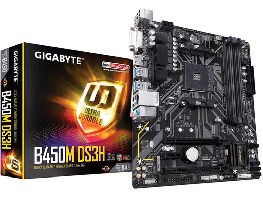 GIGABYTE B450M DS3H AM4 AMD B450 SATA 6Gb/s Micro ATX AMD Motherboard