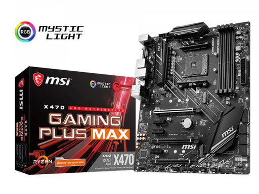 MSI X470 GAMING PLUS MAX AM4 ATX MOTHERBOARD