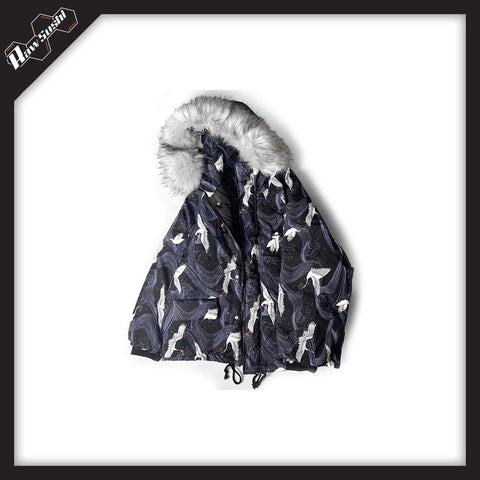 RawSushi Apparel Jackets / Coats GTX3.Hooded.Crane.Print:Jacket