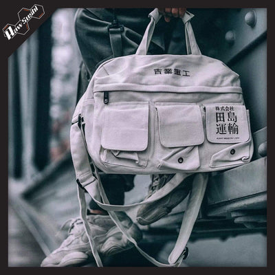 RawSushi Apparel Bags White VUW9.Harajuku.Messenger:Bag
