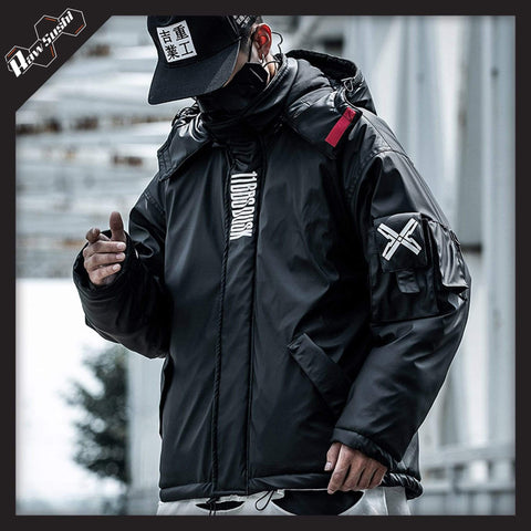 RawSushi Apparel Jackets / Coats Black / L XUW6.Hooded:Parka