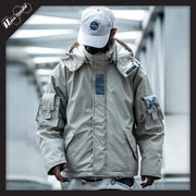 RawSushi Apparel Jackets / Coats White / S XUW6.Hooded:Parka