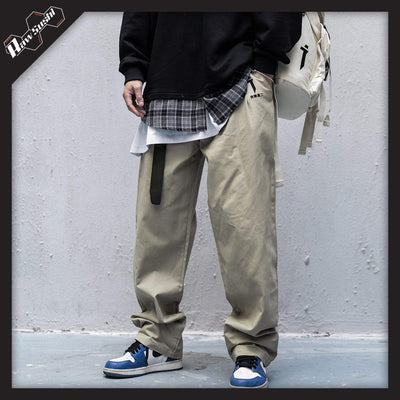 RawSushiApparel Bottoms Khaki / S AWX0 Embroidered Cargo Pants
