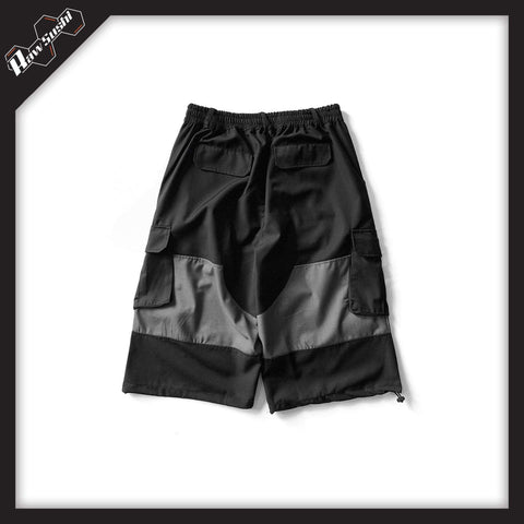 RawSushiApparel Bottoms AWY8 Color Block Tactical Shorts