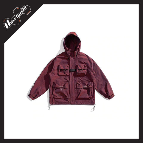RawSushiApparel Jackets / Coats RSA3 Colorful Reflective Multi-Pocket Harajuku Jacket