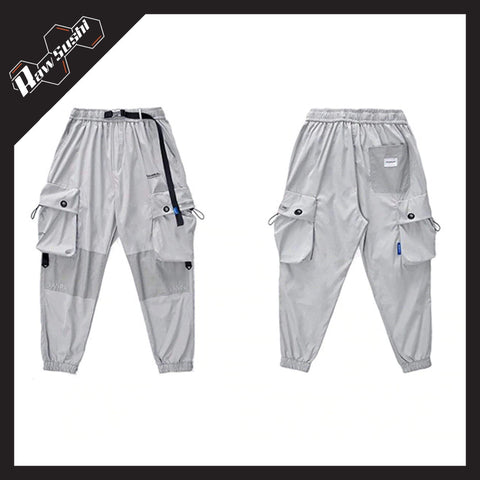 RawSushiApparel Bottoms RSB1 Loose Reflective Cargo Pants