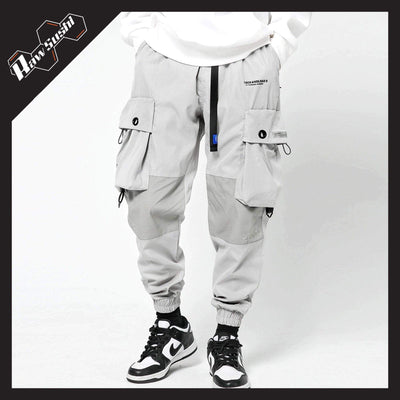 RawSushiApparel Bottoms GRAY / XL RSB1 Loose Reflective Cargo Pants
