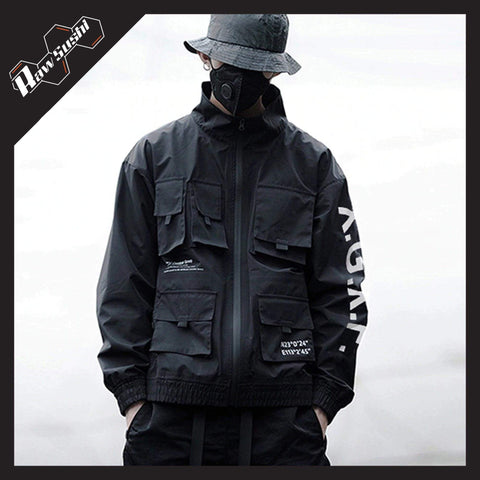 RawSushiApparel Jackets / Coats BLACK / M RSC6 Multi-Pockets Harajuku Zipper Jacket