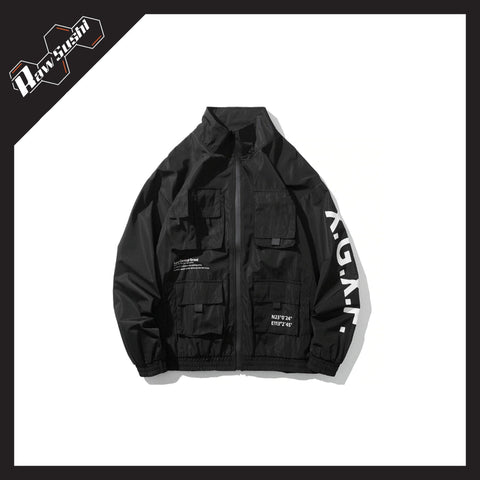RawSushiApparel Jackets / Coats RSC6 Multi-Pockets Harajuku Zipper Jacket