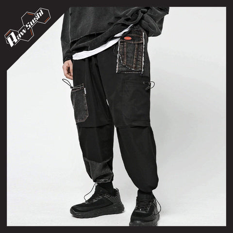 RawSushiApparel Bottoms RSD9 Loose Patchwork Denim Pants