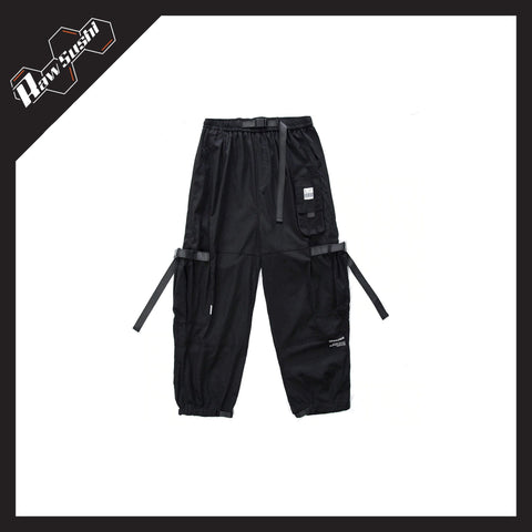RawSushiApparel Bottoms BLACK / L RSE0 Multi-Pocket Cargo Pants