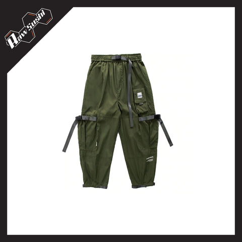 RawSushiApparel Bottoms GREEN / M RSE0 Multi-Pocket Cargo Pants