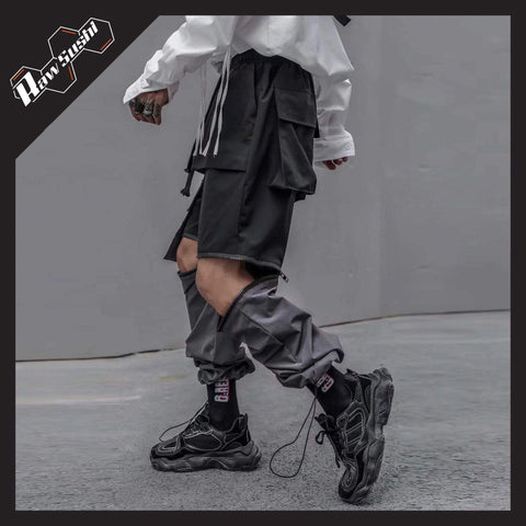 RawSushiApparel Bottoms RSF1 Casual Detachable Oversized Cargo Joggers
