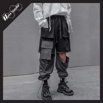 RawSushiApparel Bottoms XL RSF1 Casual Detachable Oversized Cargo Joggers