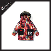 RawSushiApparel Jackets / Coats RSF4 Color Block Harajuku Streetwear Winter Jacket