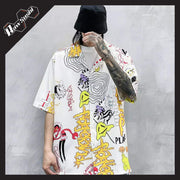 "RawSushiApparel Sweatshirts WHITE / S RSG4 ""Cartoon Graffiti"" Print Harajuku Streetwear Shirt"