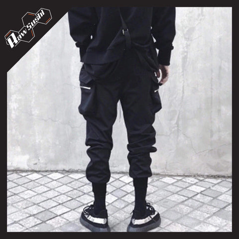 RawSushiApparel Bottoms RSG5 Casual Hole Zipper Pockets Cargo Pants