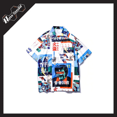 RawSushiApparel Sweatshirts L RSH3 Japanese Style Hawaii Shirt