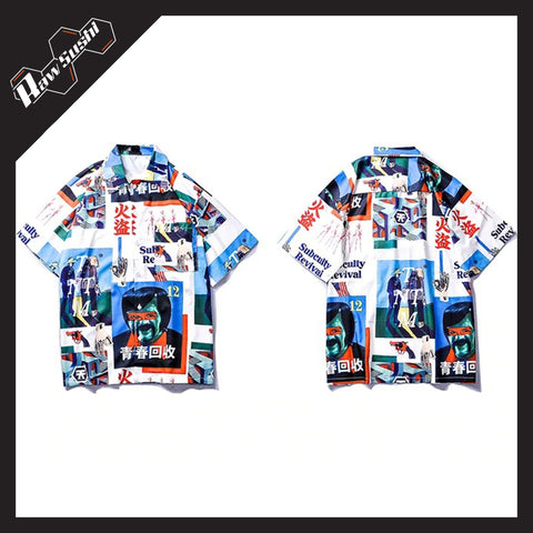 RawSushiApparel Sweatshirts RSH3 Japanese Style Hawaii Shirt