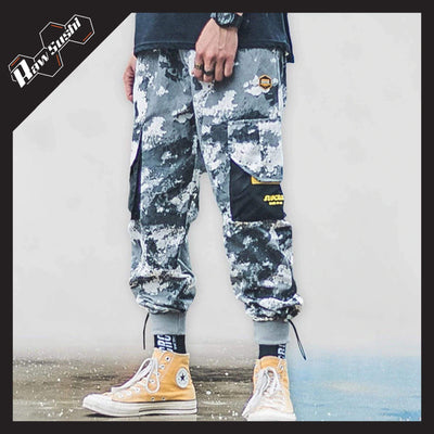RawSushiApparel Bottoms GRAY CAMOUFLAGE / XL RSH6 Big Pockets Camouflage Streetwear Cargo Pants