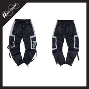 RawSushiApparel Bottoms RSI6 Patchwork Pockets Harajuku Sweatpants