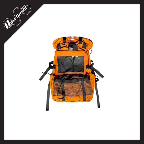 RawSushiApparel Bags ORANGE RSJ9 Multi-Function Harajuku Streetwear Backpack