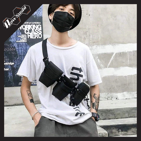 RawSushiApparel Bags RSK1 Multi-Pockets Streetwear Chest Bag